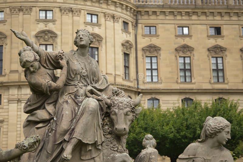 Composición de la escultura en Wurzburg, Alemania imagen de archivo libre de regalías