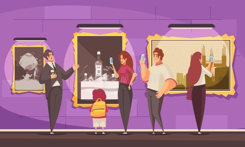 Composición de la excursión del museo de la imagen libre illustration