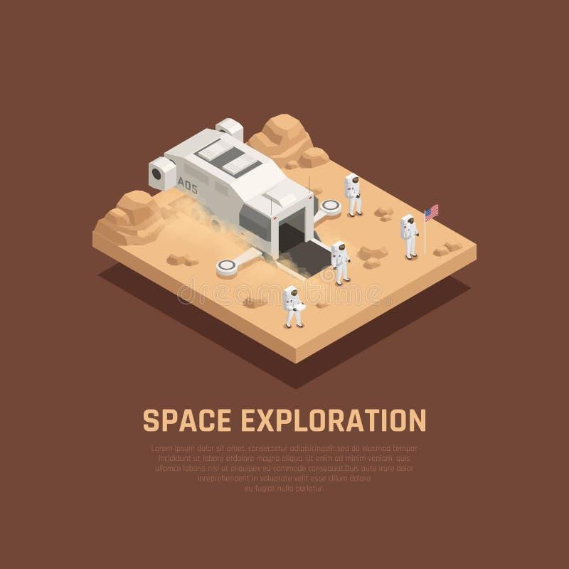 Composición de la exploración espacial ilustración del vector