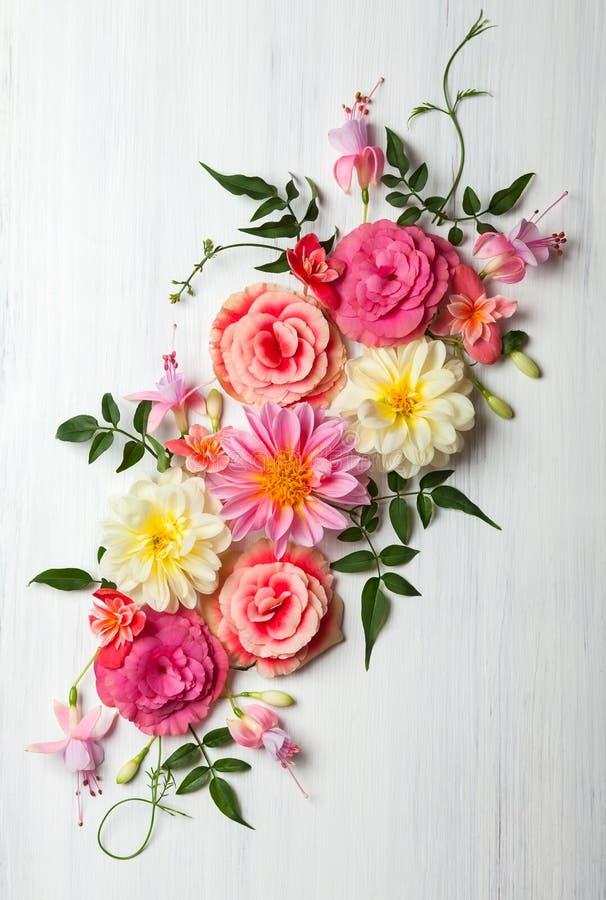 Composición de la flor fotografía de archivo