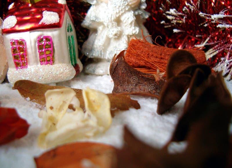 Composición de la Navidad fotos de archivo