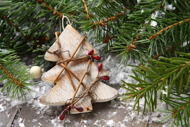 Composición de la Navidad con el árbol de navidad foto de archivo libre de regalías