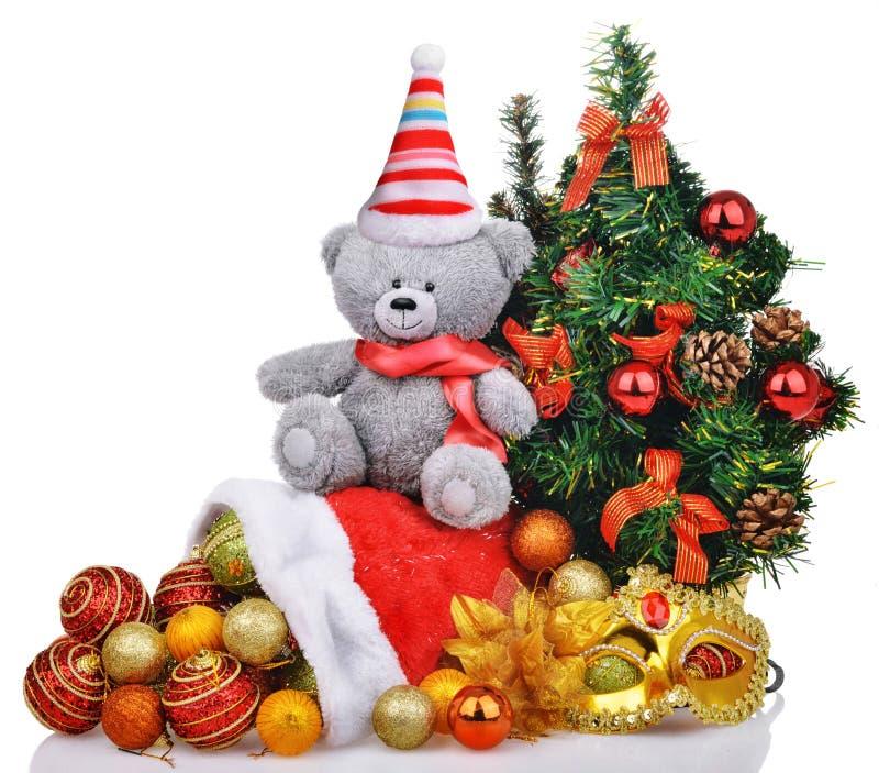 Composición de la Navidad con los juguetes y los regalos fotos de archivo libres de regalías