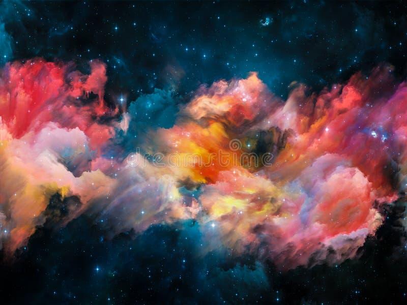 Composición de la nebulosa ilustración del vector