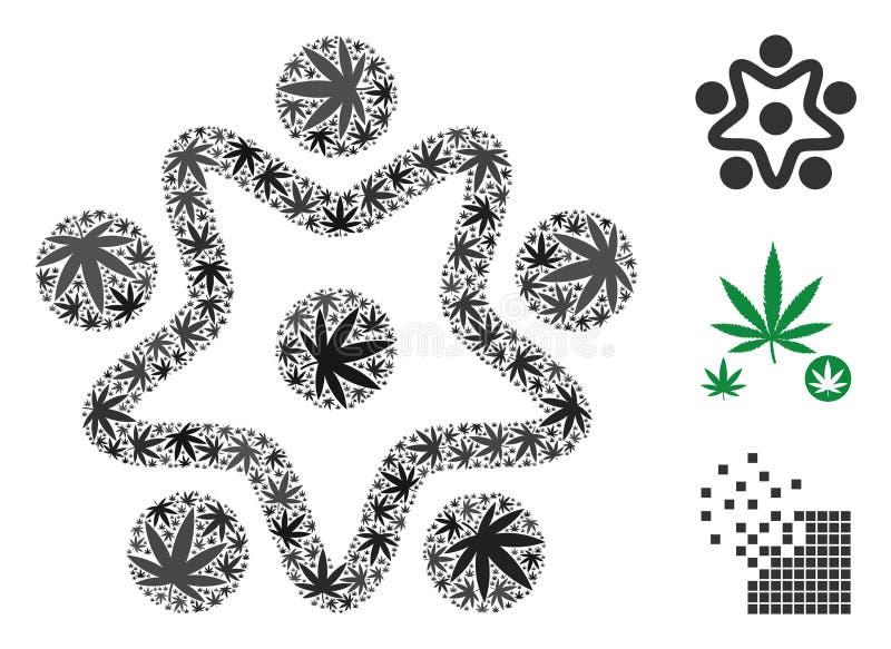 Composición de la organización del usuario del cáñamo libre illustration