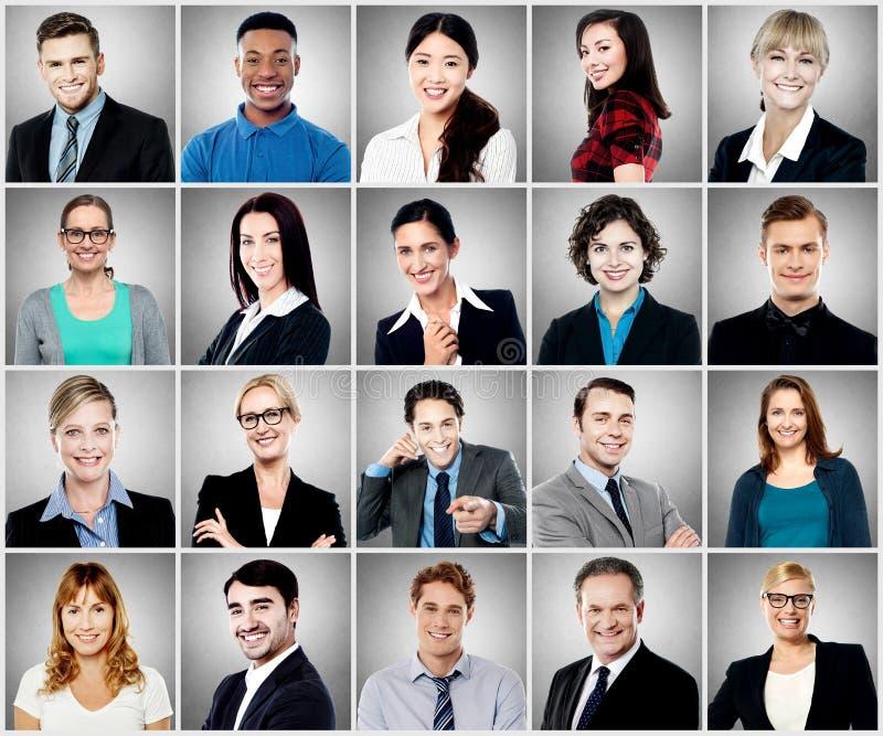 Composición de la sonrisa diversa de la gente imagen de archivo libre de regalías
