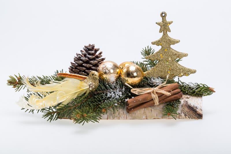 Composición de las decoraciones de la Navidad imágenes de archivo libres de regalías