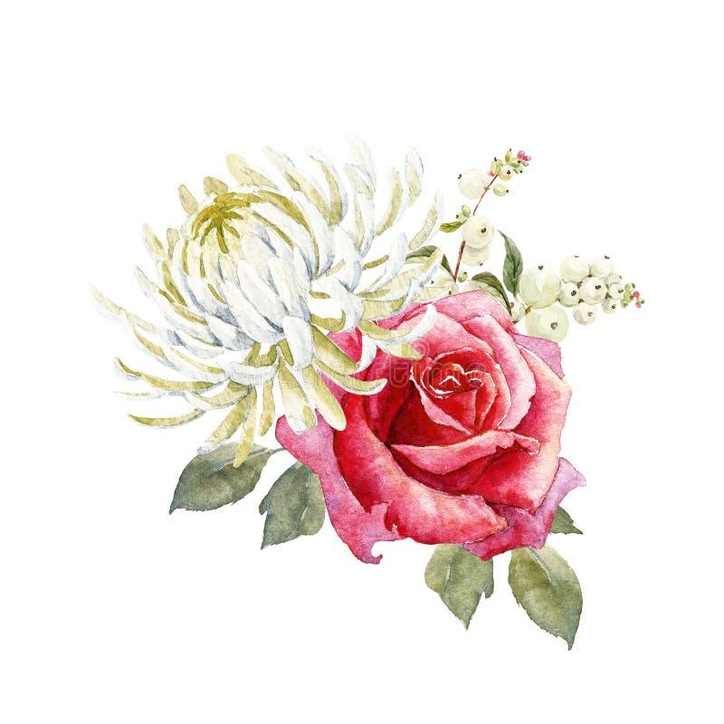 Composición de las rosas de la acuarela libre illustration