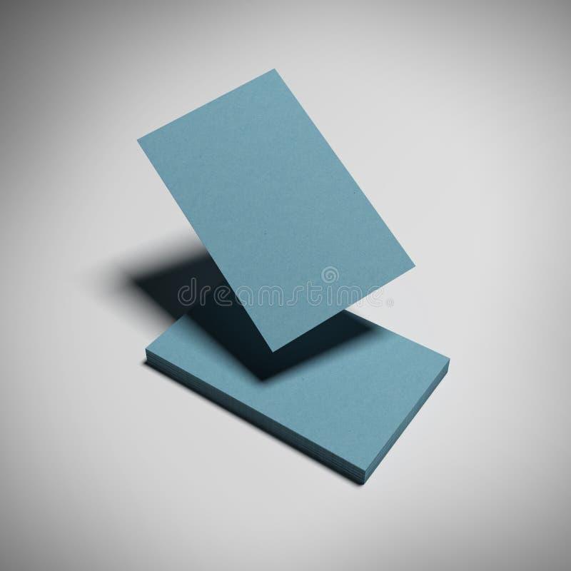 Composición de las tarjetas de visita azules aisladas ilustración del vector