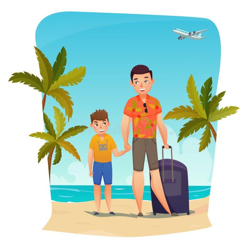 Composición de las vacaciones de verano ilustración del vector