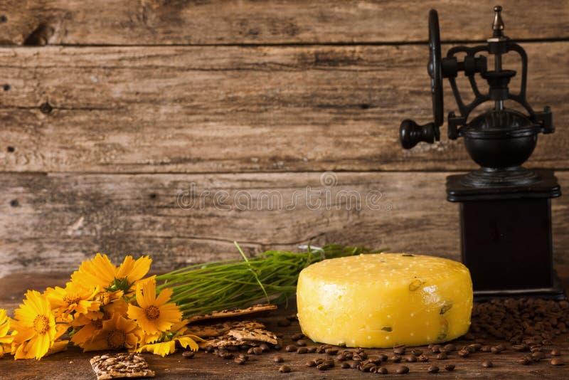 Composición de los alimentos del queso gastrónomo fotografía de archivo libre de regalías