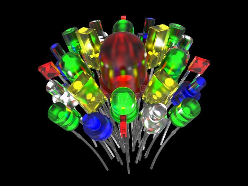 Composición de los diodos electroluminosos stock de ilustración