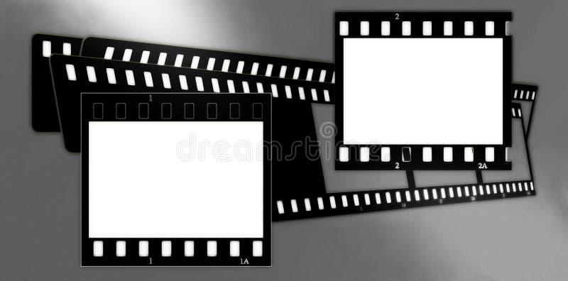 Composición de los marcos de la película (cromo, suaves) (diapositivas) 2 stock de ilustración