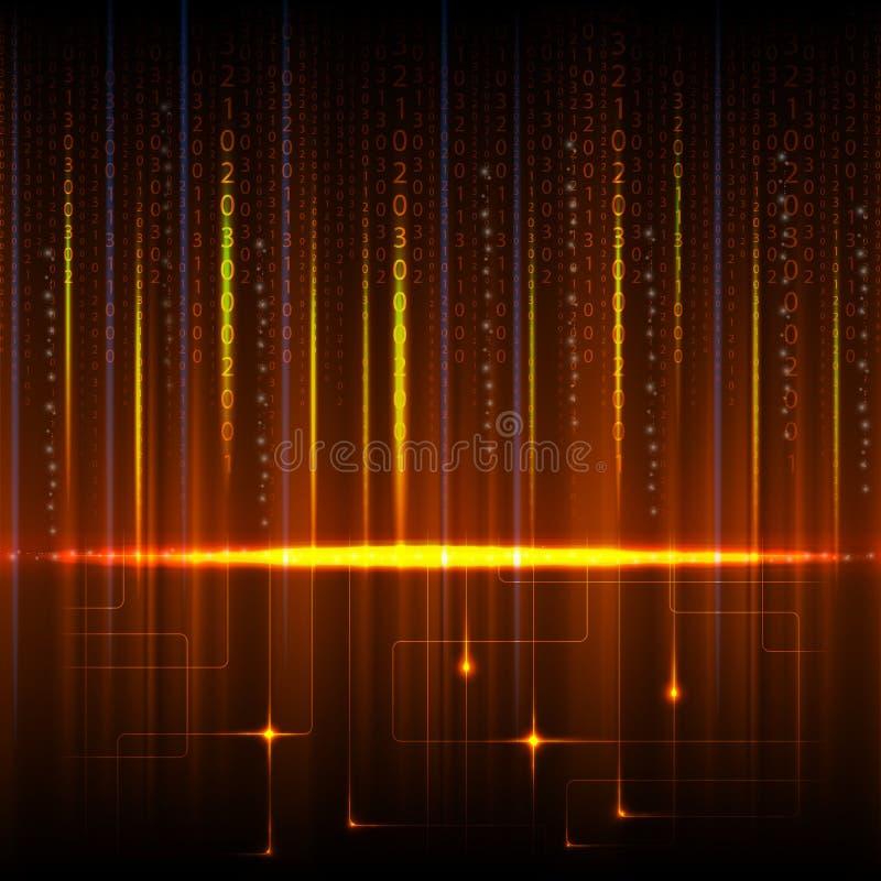 Composición de números como fondo moderno de la tecnología stock de ilustración
