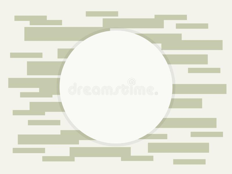Composición de rectángulos del área redonda de la tonalidad de los ladrillos de la electrónica de la tecnología de los alambres d libre illustration