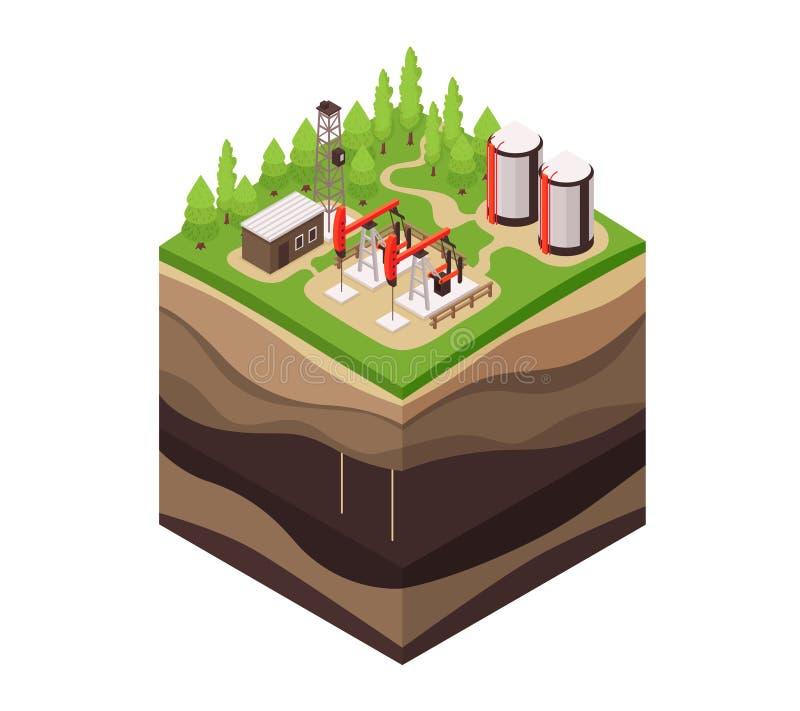 Composición de tierra de la geología de las capas libre illustration