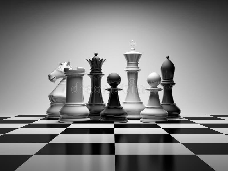 Composición del ajedrez ilustración del vector