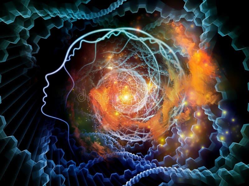 Composición del alma y de la mente stock de ilustración