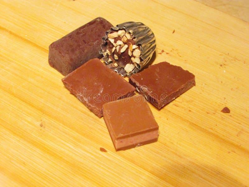 Composición del chocolate foto de archivo libre de regalías