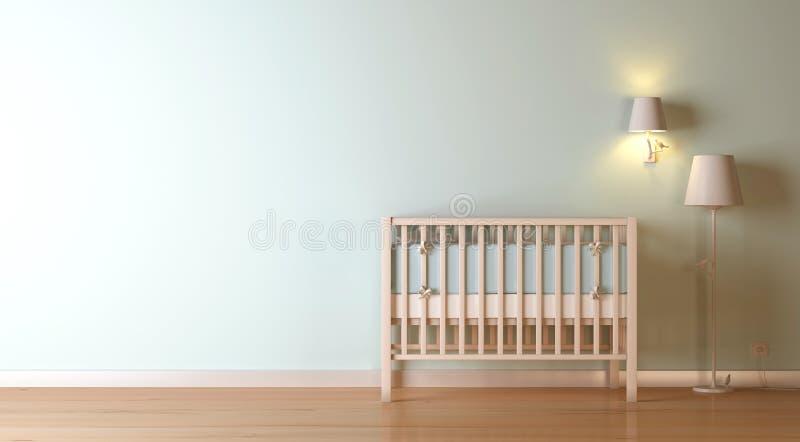 Composición del cuarto de niños stock de ilustración