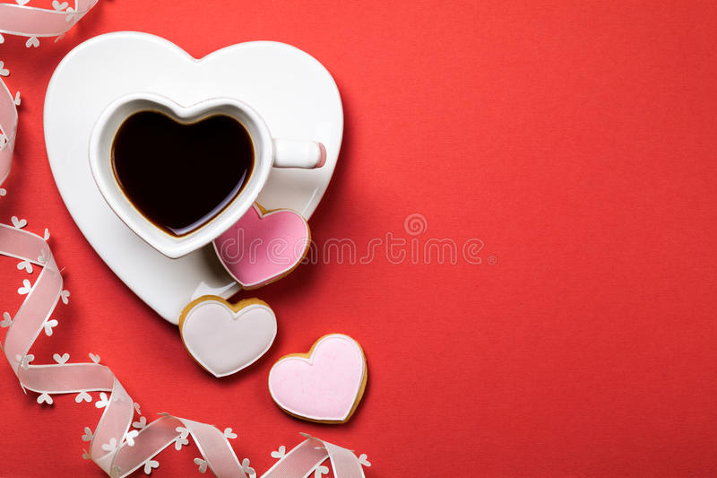 Composición del día de tarjetas del día de San Valentín imágenes de archivo libres de regalías