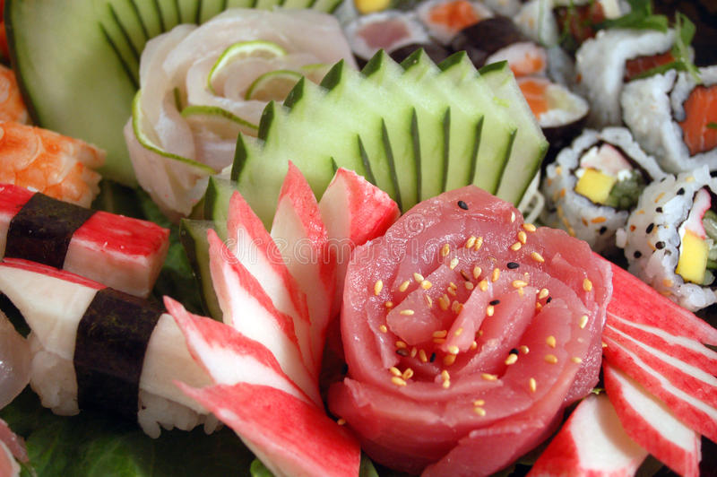 Composición del sushi fotos de archivo libres de regalías