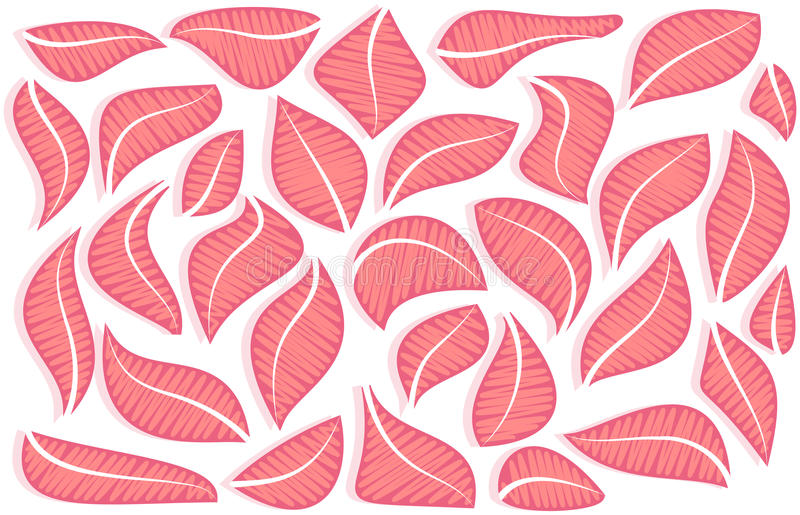 Composición del vector de hojas rosadas abstractas ilustración del vector
