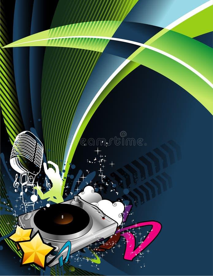 Composición del vector de la música libre illustration