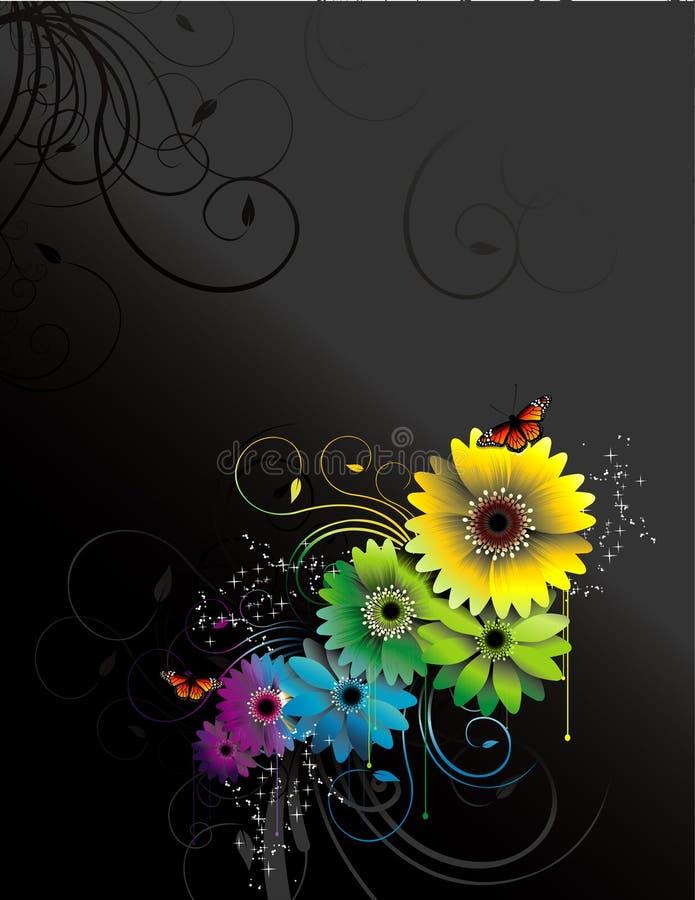 Composición del vector de las flores ilustración del vector