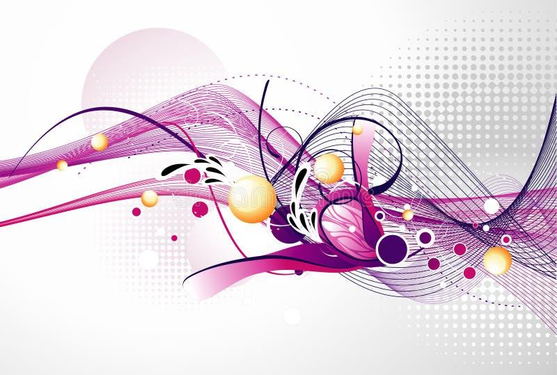Composición del vector del color libre illustration