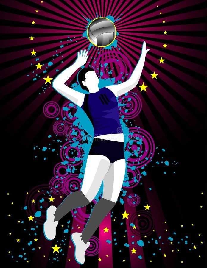 Composición del vector del voleibol ilustración del vector