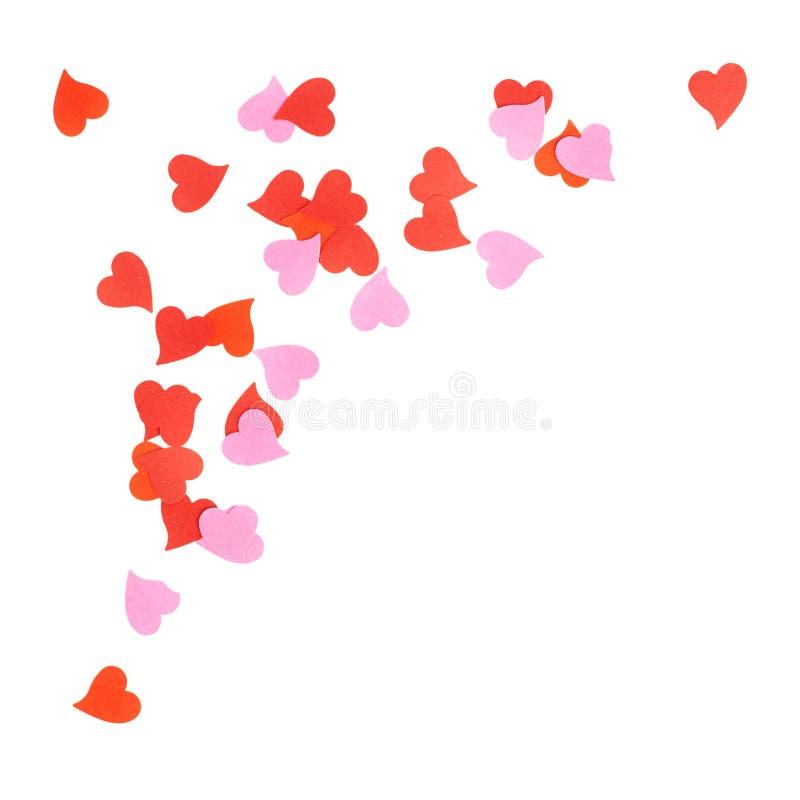 Composición en forma de corazón del confeti imagen de archivo
