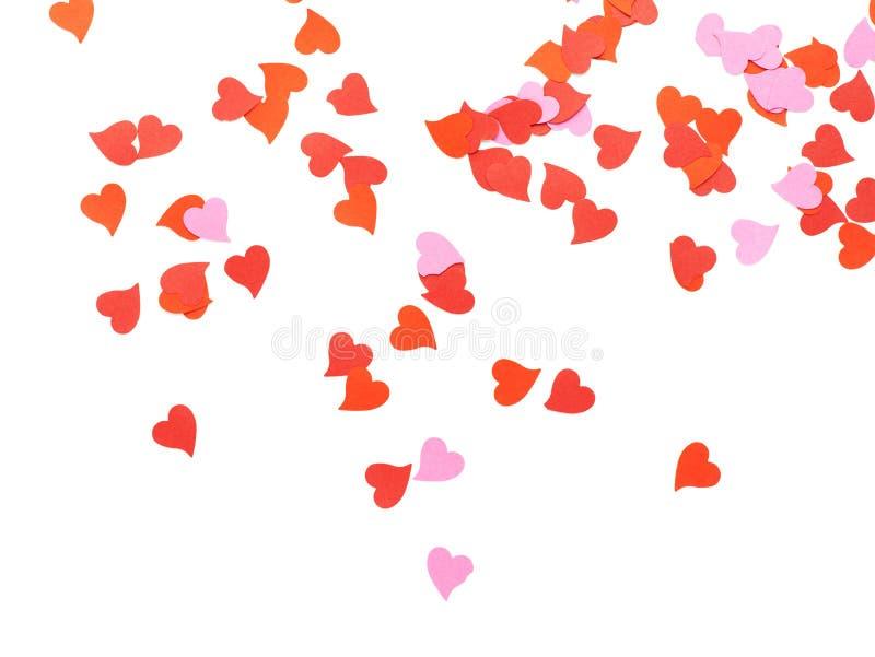 Composición en forma de corazón del confeti foto de archivo libre de regalías