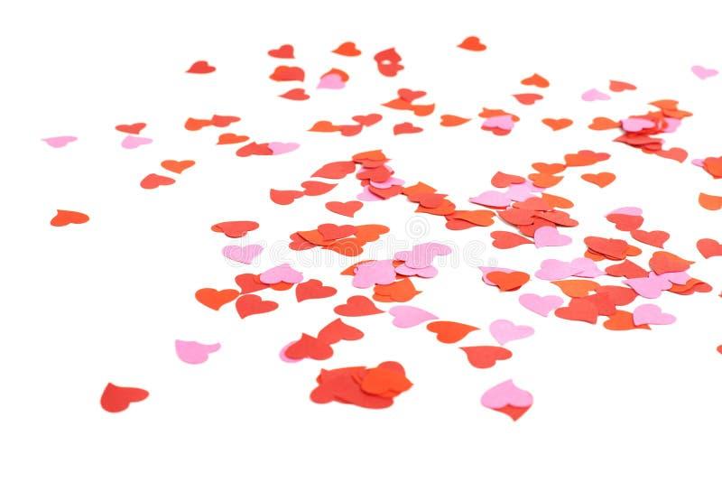 Composición en forma de corazón del confeti foto de archivo