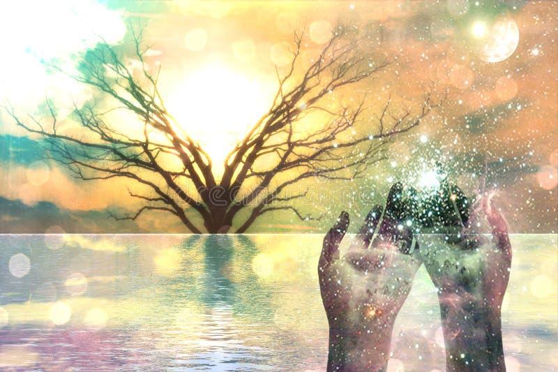 Composición espiritual stock de ilustración
