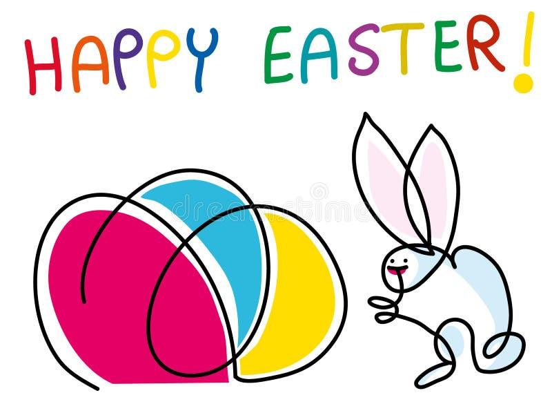Composición feliz colorida de Pascua ilustración del vector