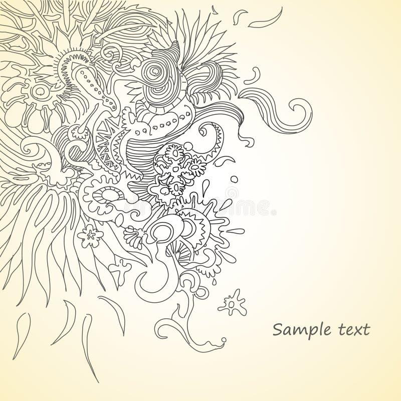 Composición floral abstracta stock de ilustración