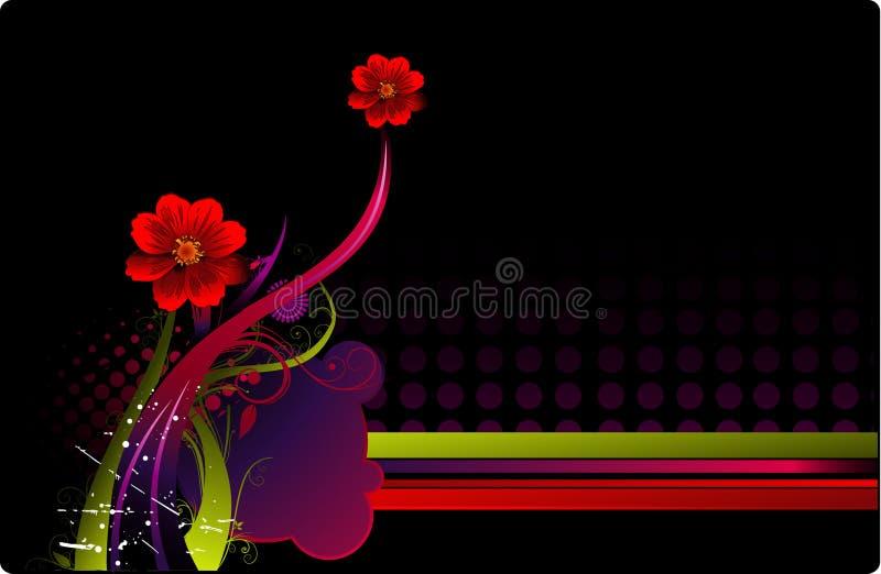 Composición floral del vector stock de ilustración