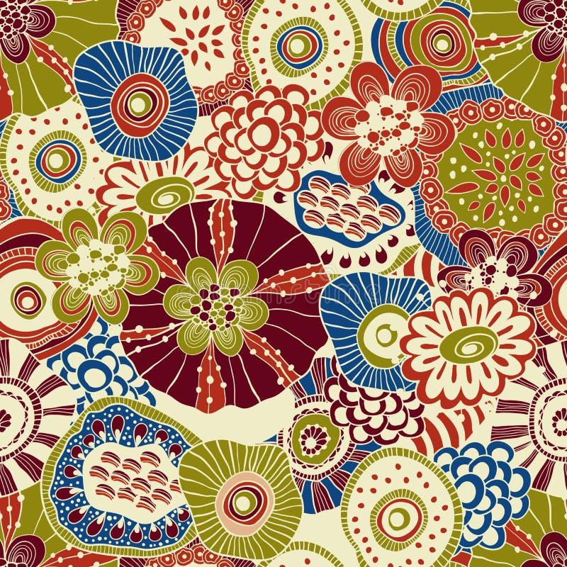 Composición floral inconsútil abstracta del vector libre illustration
