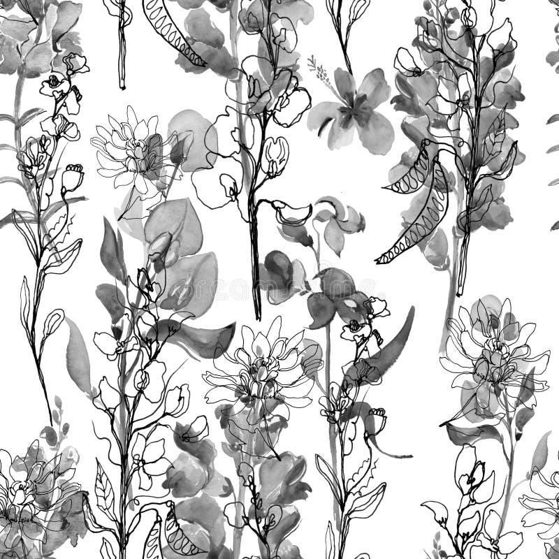 Composición floral Mime al día del ` s, boda, cumpleaños, Pascua, día del ` s de la tarjeta del día de San Valentín stock de ilustración