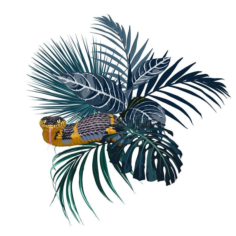 Composición floral y del parque zoológico elegante del vector Una impresión para una camiseta libre illustration