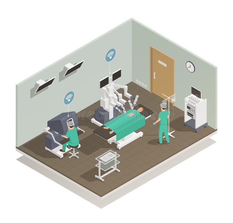 Composición futura de la tecnología de la medicina ilustración del vector