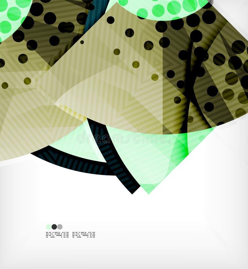 Composición futurista moderna del extracto del techno ilustración del vector