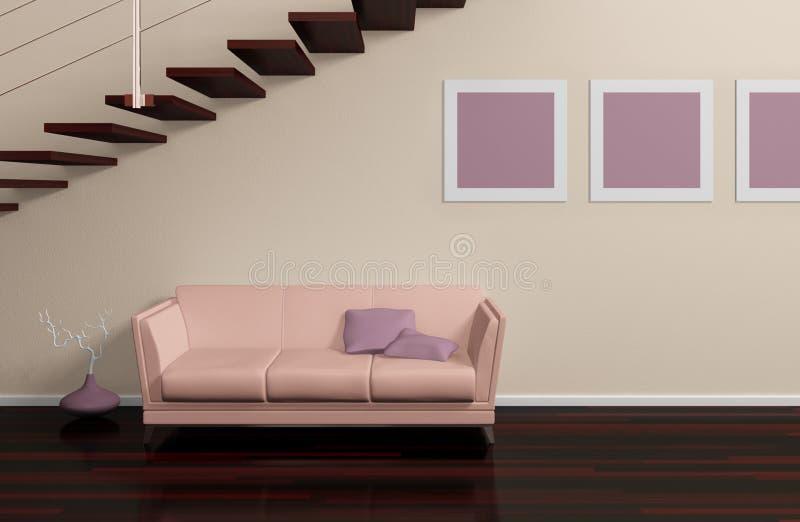 Composición interior moderna ilustración del vector