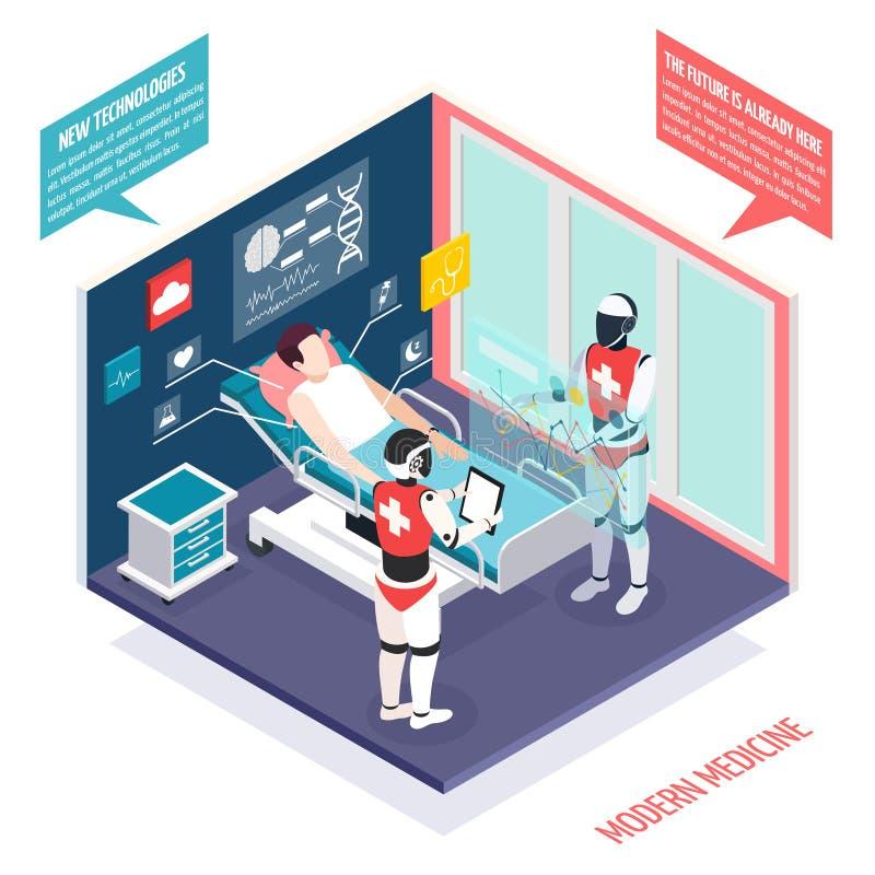 Composición isométrica de las tecnologías médicas libre illustration