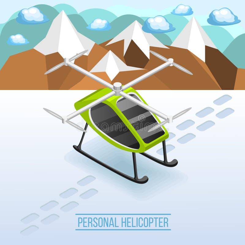 Composición isométrica del helicóptero personal libre illustration