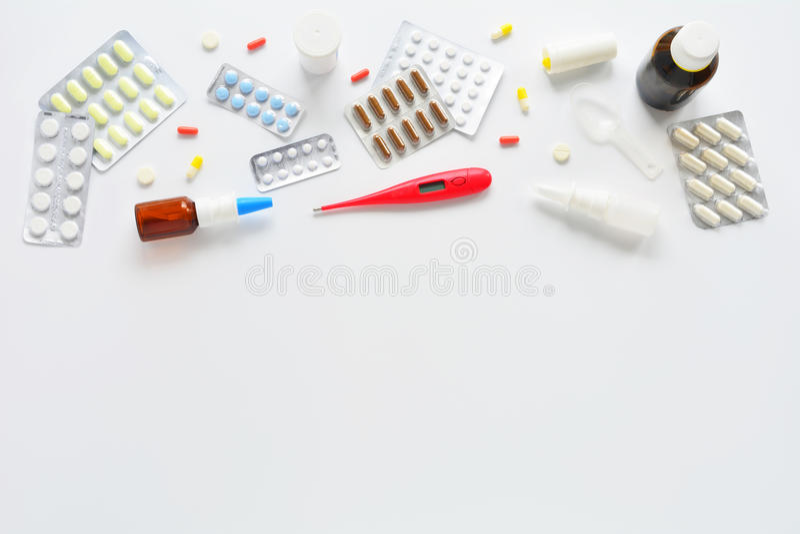 Composición médica de la visión superior foto de archivo libre de regalías