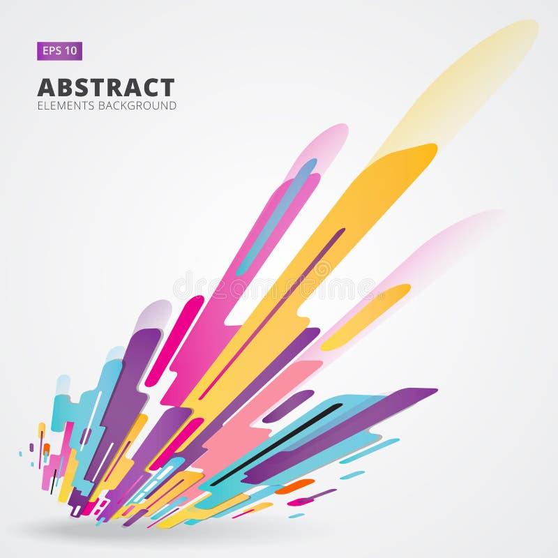 Composición moderna del estilo de la abstracción hecha de diverso sha redondeado ilustración del vector