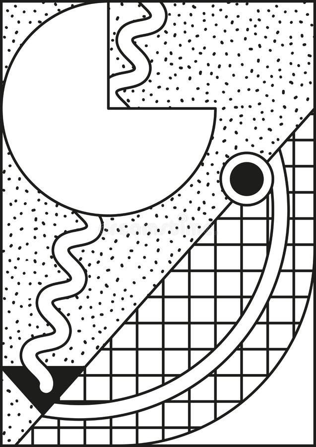 Composición nea de Memphis del vector estilo 80 90 ilustración del vector