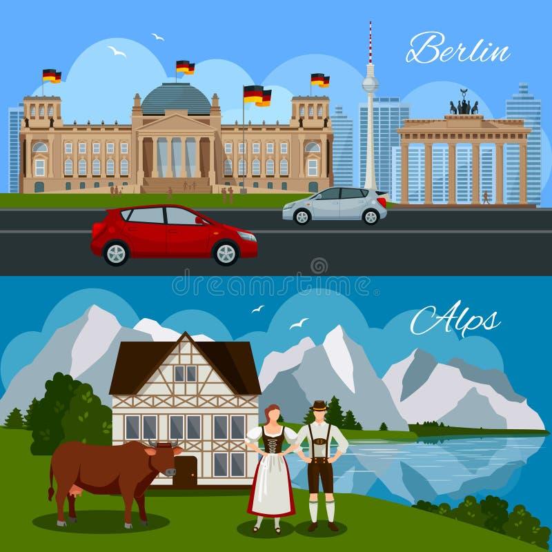 Composición plana de Alemania libre illustration